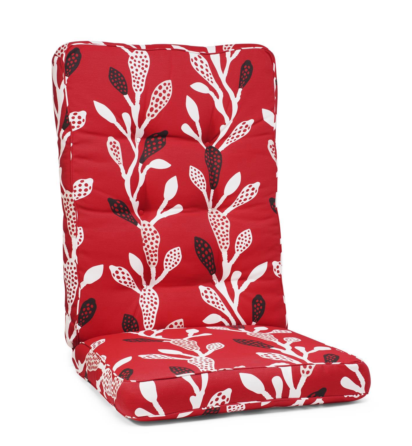 Hillerstorp Texas Dyna Hög 56x127x11 cm röd mönster bomull/polyester.