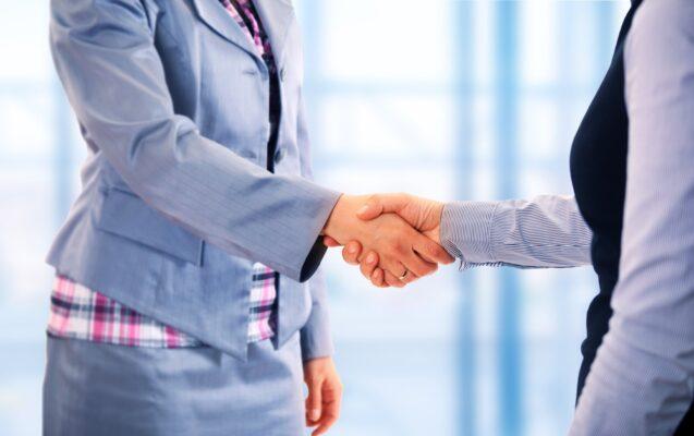 Hur vi vill göra affärer handslag
