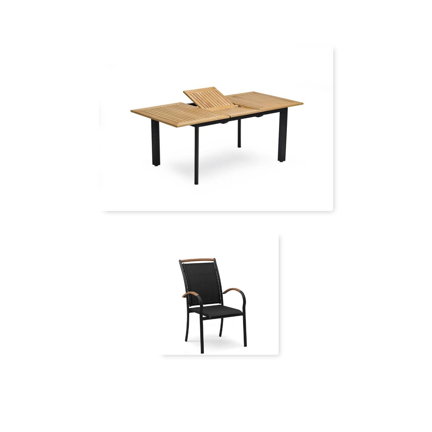 Hillerstorp Nydala matgrupp 4 stolar (upp till 6 med tillval)